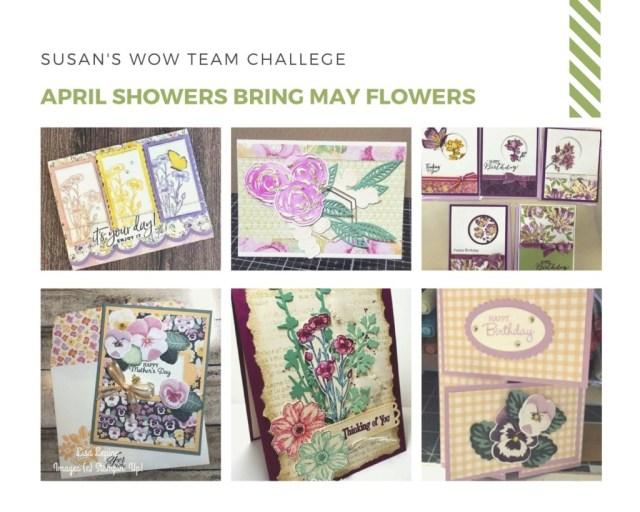 April Showers Team Challenge,  Susan's WOW Team, WOW NOLA Creations, Stampin' Up!
