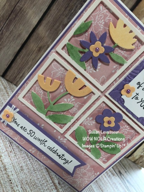 All Squared Away, Susan Levasseur, WOW NOLA Creations, Stampin' Up!
