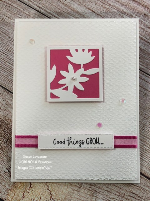All Squared Away, Quick & Easy, Susan Levasseur, WOW NOLA Creations, Stampin' Up!