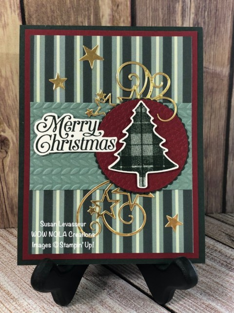 Mass Produce Perfectly Plaid Christmas Cards, Susan Levasseur, WOW NOLA Creations, Stampin' Up!