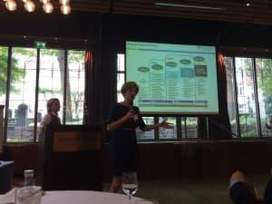 Elena Brambilla presenting Wolters Kluwer NPS journey using Wow Now framework