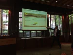 Adam Dorrell, CustomerGauge, sharing examples of (bad) NPS surveys self-experienced