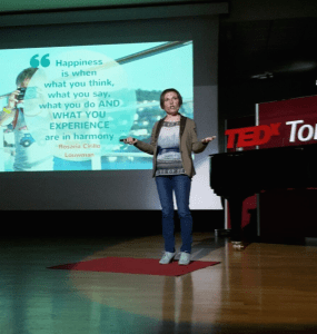 Rosaria Cirillo TEDx talk about Happiness Contribution