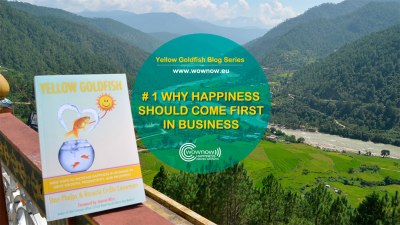 Yellow Goldfish series #1: Why Happiness Should Come First In Business Too