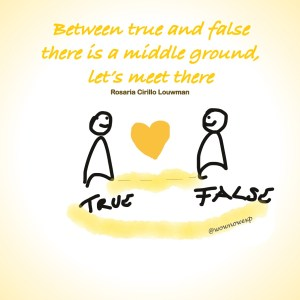 between true and false there is a middle ground, let's meet there