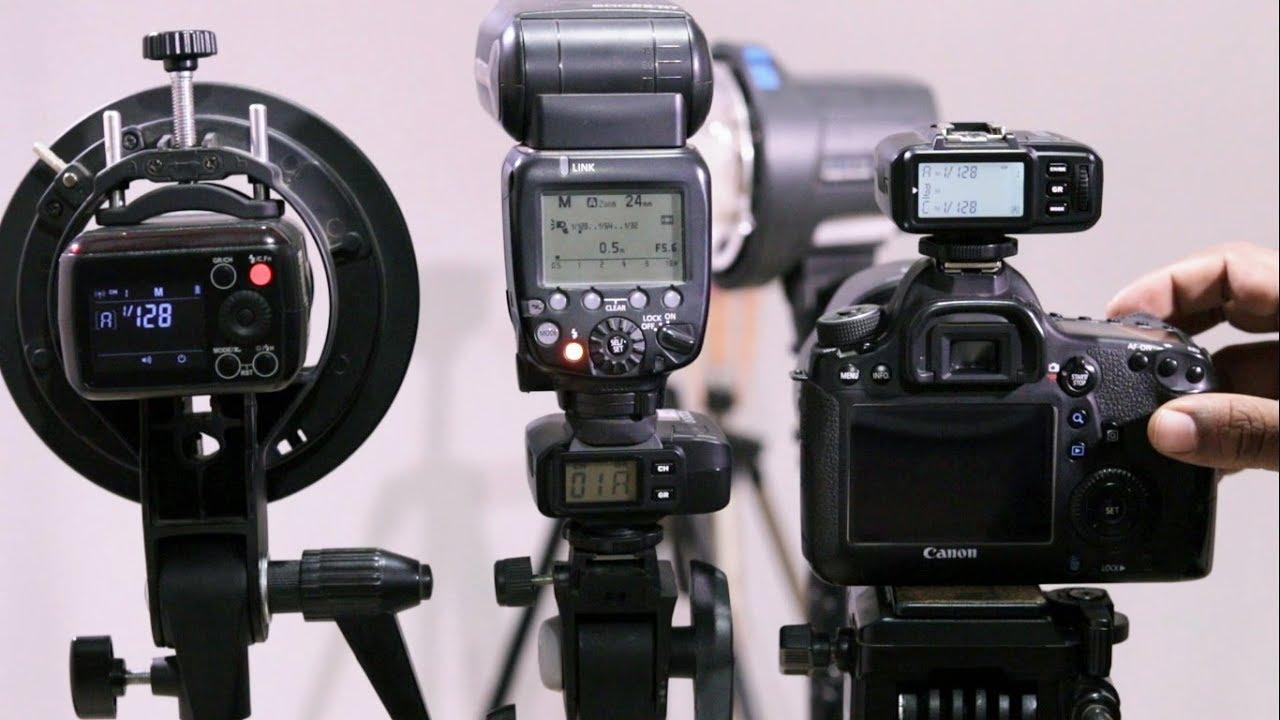 Set up trigger cho đèn flash và strobe
