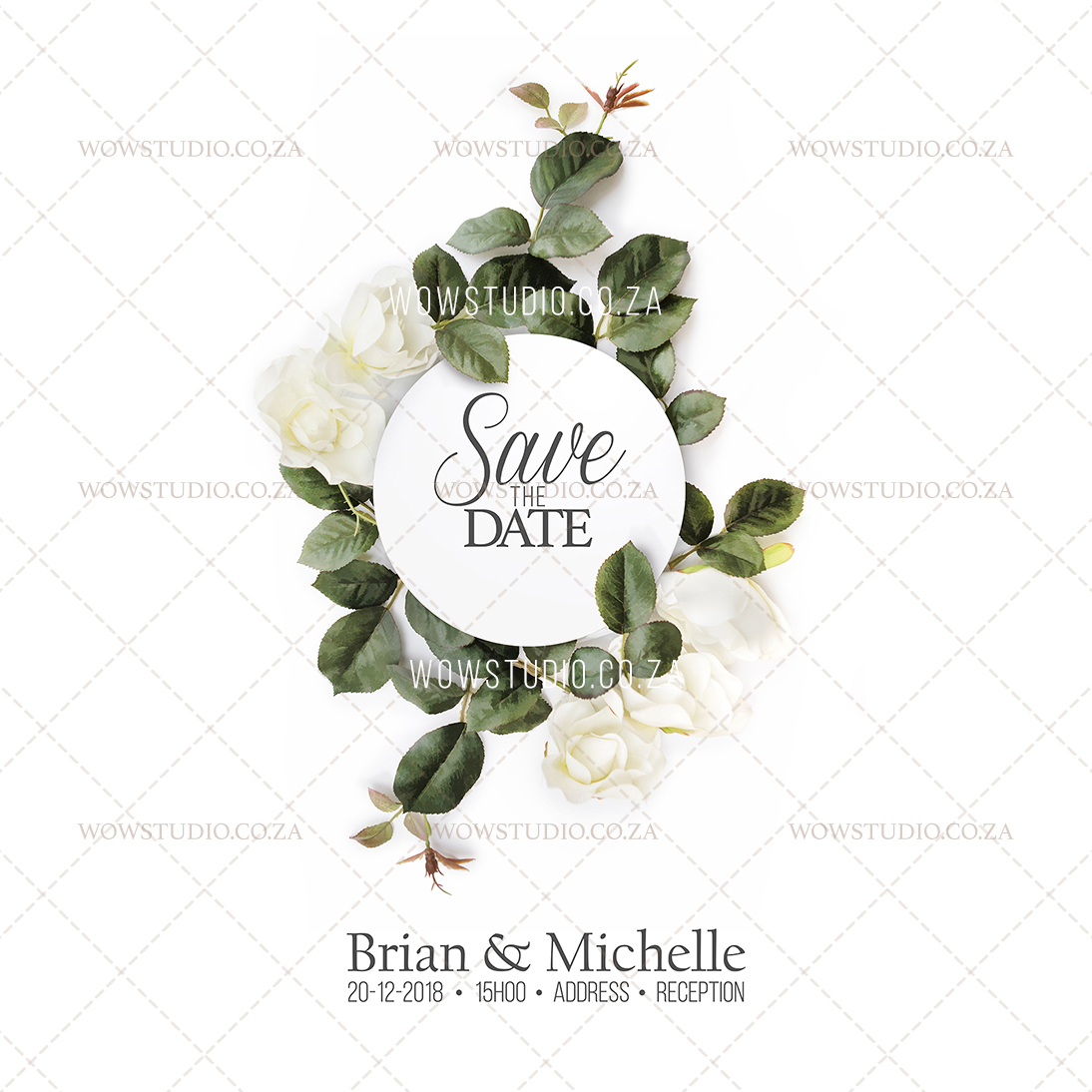 WOW Studio Save The Date Wedding Invitation Design