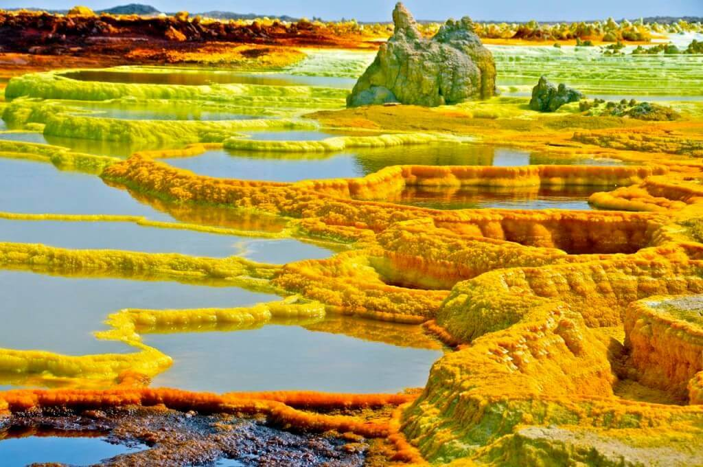 16 Dallol, a volcanic crater in Ethiopia