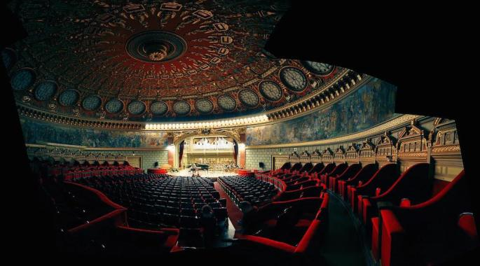 Romanian Athenaeum, Bucharest - by fusion-of-horizons:Flickr