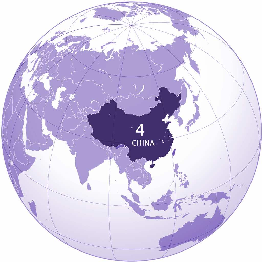 China World Map2 - by Ssolbergj / Wikimedia - created with the Generic Mapping Tools1