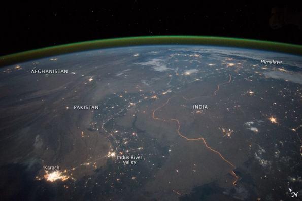 India Pakistan Border -by NASA Goddard Space Flight/Flickr.com