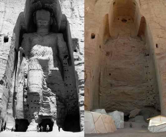 Bamiyan Buddha Site - by Wikipedia.org
