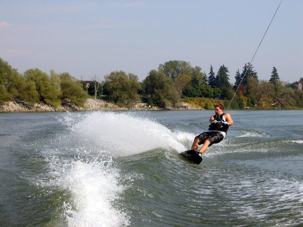 Wakeboarding on the Grand River -by Derek Purdy / Flickr.com