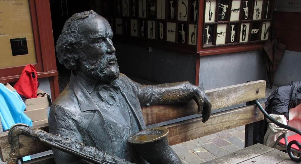 Adolphe Sax Statue, Dinant, Belgium - by Zeitblick / wikimedia commons