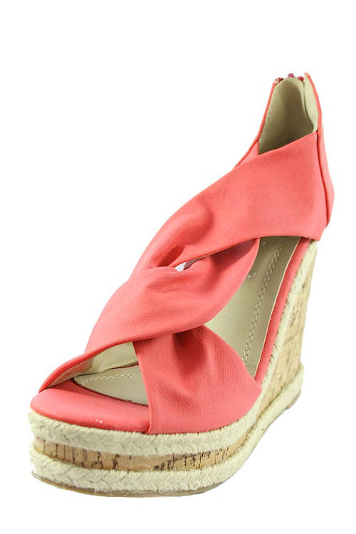 Wedge High Sandals Color Size 5 Heel Clear