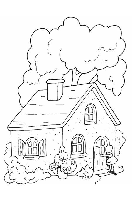 صور منزل للتلوين رسومات بيوت جميلة للتلوين اغراء قلوب