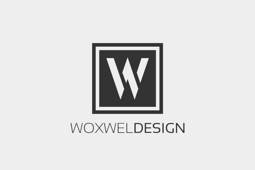 Логотип Woxwel Design - светлый фон