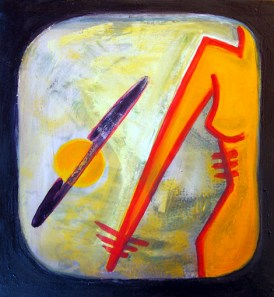 the cosmos II - oil on canvas - 29 cm x 26 cm - € 280