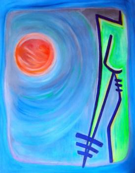 The Mars original, signed oil and acrylic on canvas 80 cm x 60 cm € 800 - woytasik_art