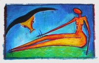 woytasik_art original, signed oil pastel on paper , 280g 50 cm x 70 cm
