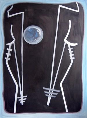 Sorelle original, signed oil and acrylic on canvas 110 cm x 80 cm € 1400