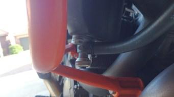 Left Fuel hose and screwable tap.