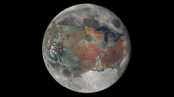 How Big is the Moon The Moon Compared to the United States