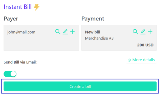 how to create a crypto bill