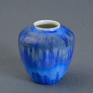 C F Ludvigsen with crystal glaze