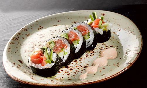 Big spicy laks futomaki