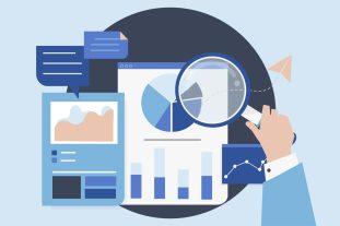 ilustraçao-de-lupa-diante-de-documentos-e-graficos-avaliando-resultados-do-processo-de-compra-e-venda-de-empresas