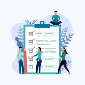 ilustracao-de-pessoas-diante-de-um-checklist-para-representar-dicas-para-um-bom-controle-financeiro