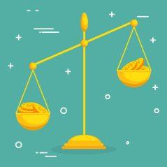 foto-de-balanca-para-ilustrar-a-comparacao-como-forma-de-avaliacao-de-startups