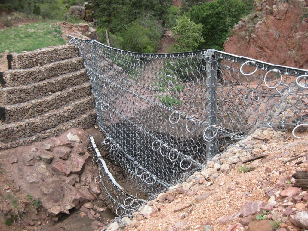 One of the metal nets in Queen's Canyon