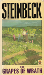 John Steinbeck's Grapes of Wrath turns 75 on Monday. This cover is from the 1987 Penguin paperback edition.
