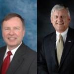 Doug Lamborn, left, and his GOP Primary challenger, Bentley Rayburn
