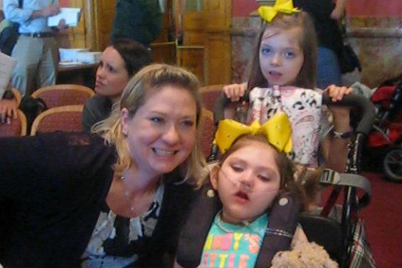 Jenea Cox - who testified at the hearing - and her 5-year-old daughter Haleigh. They moved to Colorado from Georgia so Haleigh could take a special medical marijuana strain to help with her seizures.