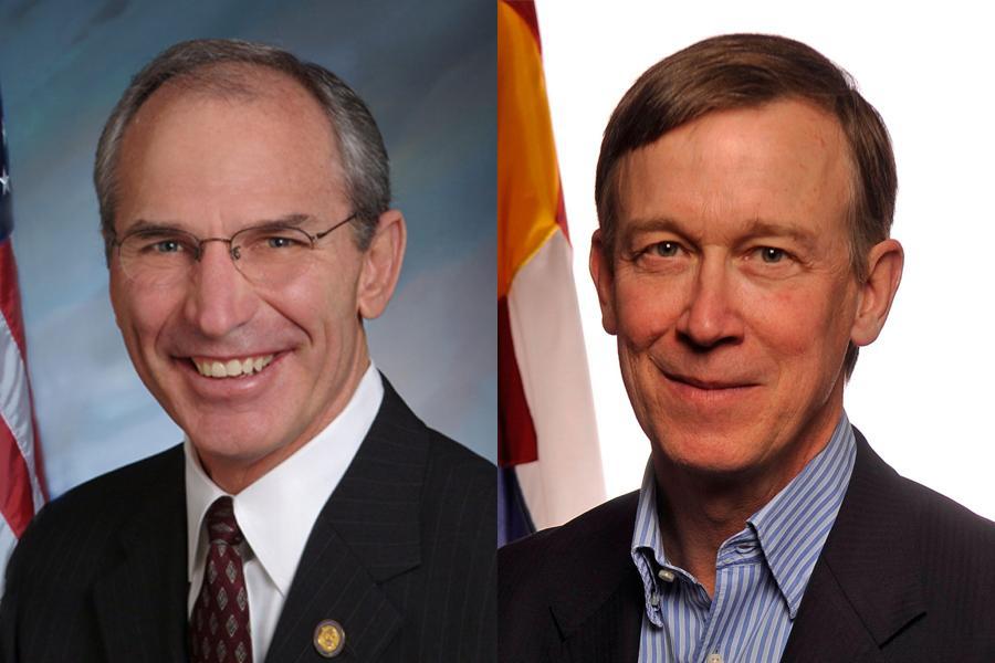 GOP gubernatorial challenger Bob Beauprez and Democratic incumbent John Hickenlooper