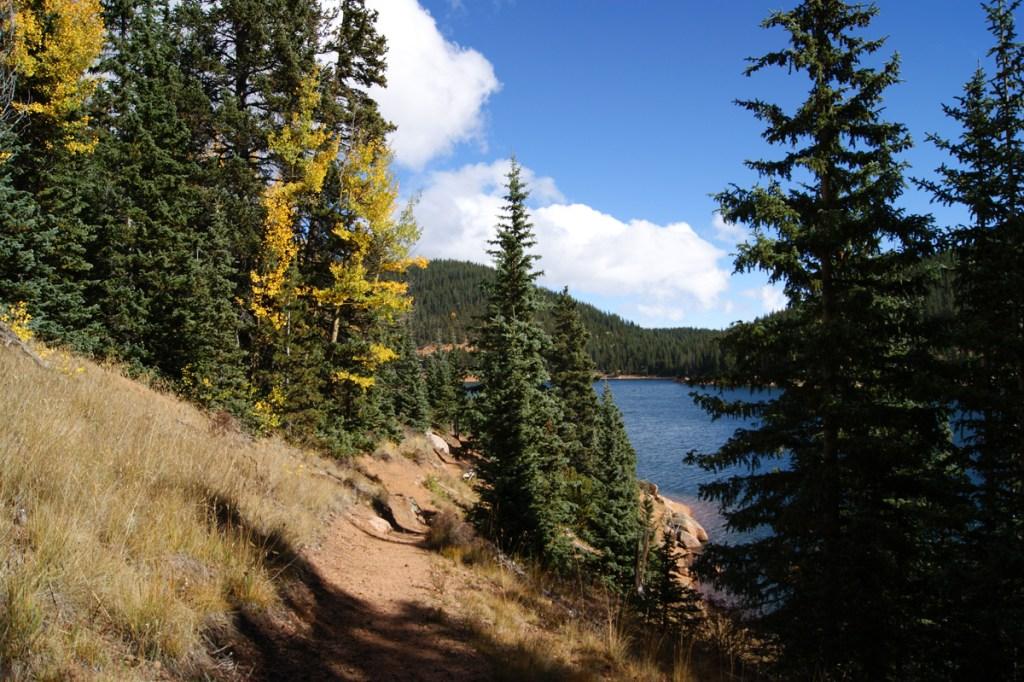 Mason Trail overlooking Mason Reservoir