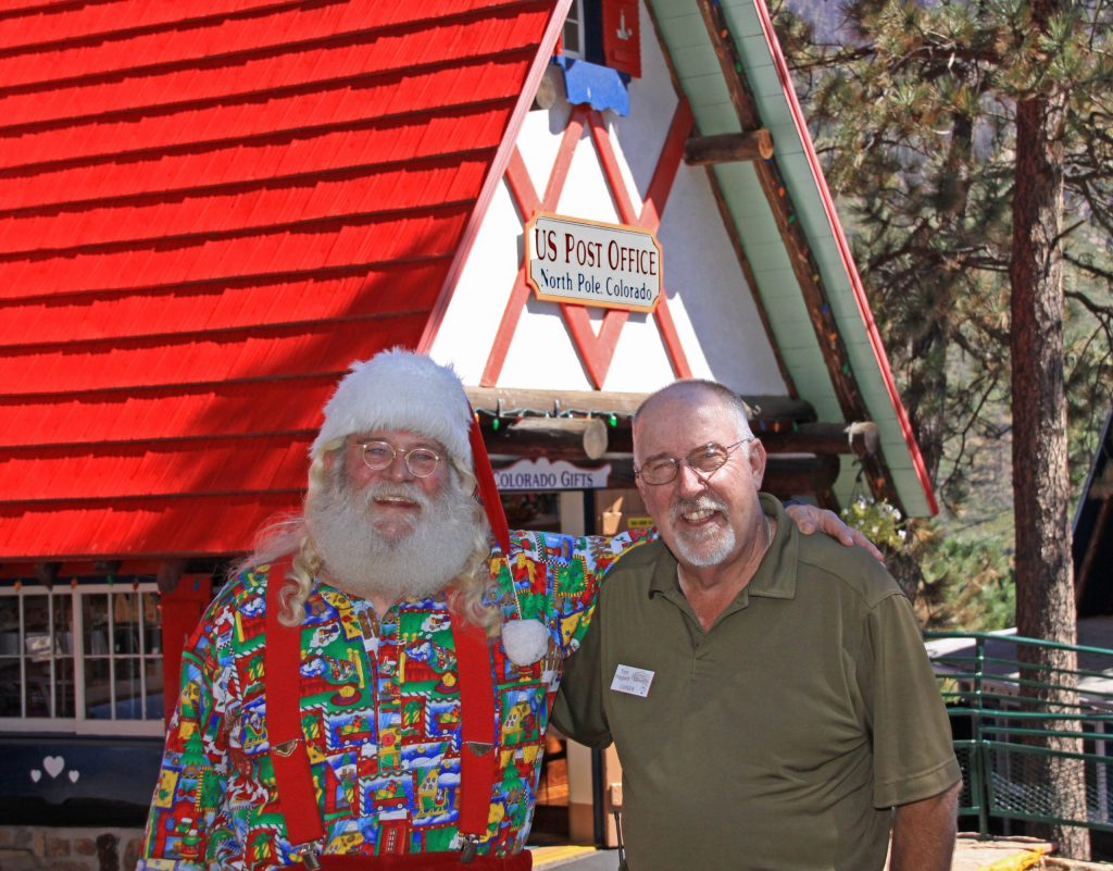 North Pole, CO, Santa and owner Tom Haggard