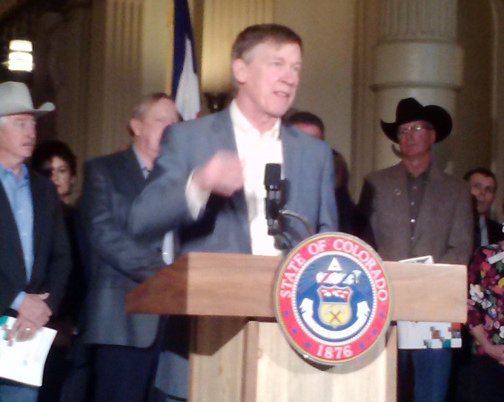 Governor Hickenlooper releases the draft water plan for the state. It's open now for public comments.