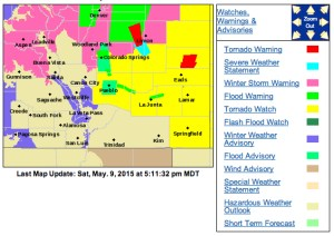Watches and warnings continue to evolve as the latest storm system moves through. 5:11 PM NWS-Pueblo