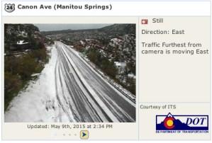 CDOT traffic camera, Highway 24 near Manitou Springs