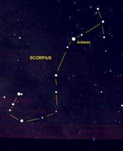 Antares in Scorpius