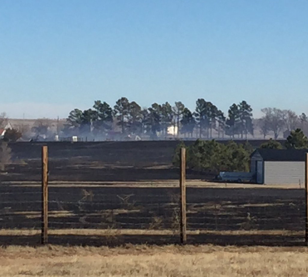 Photo of the grass fire that occurred in El Paso County