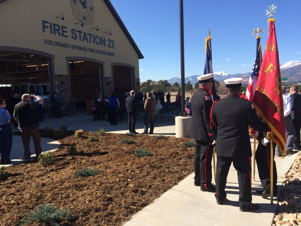 Fire Station 22 officially opened in north Colorado Springs with a ribbon cutting ceremony
