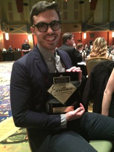Wish We Were Here producer Jake Brownell at the Colorado Broadcasters Awards of Excellence banquet