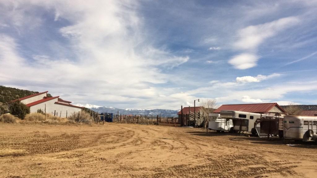 The Gallegos Ranch and the Sangre de Christo Mountains