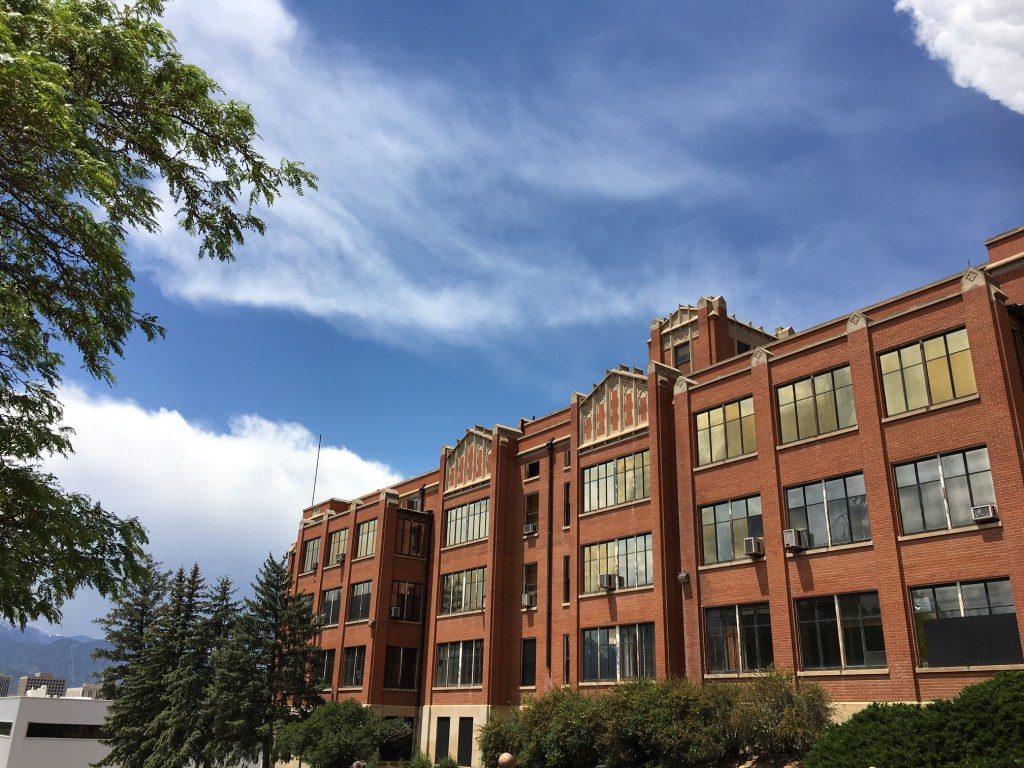 The vacant St. Francis hospital building on Pikes Peak Avenue is one site of future development in Colorado Springs.