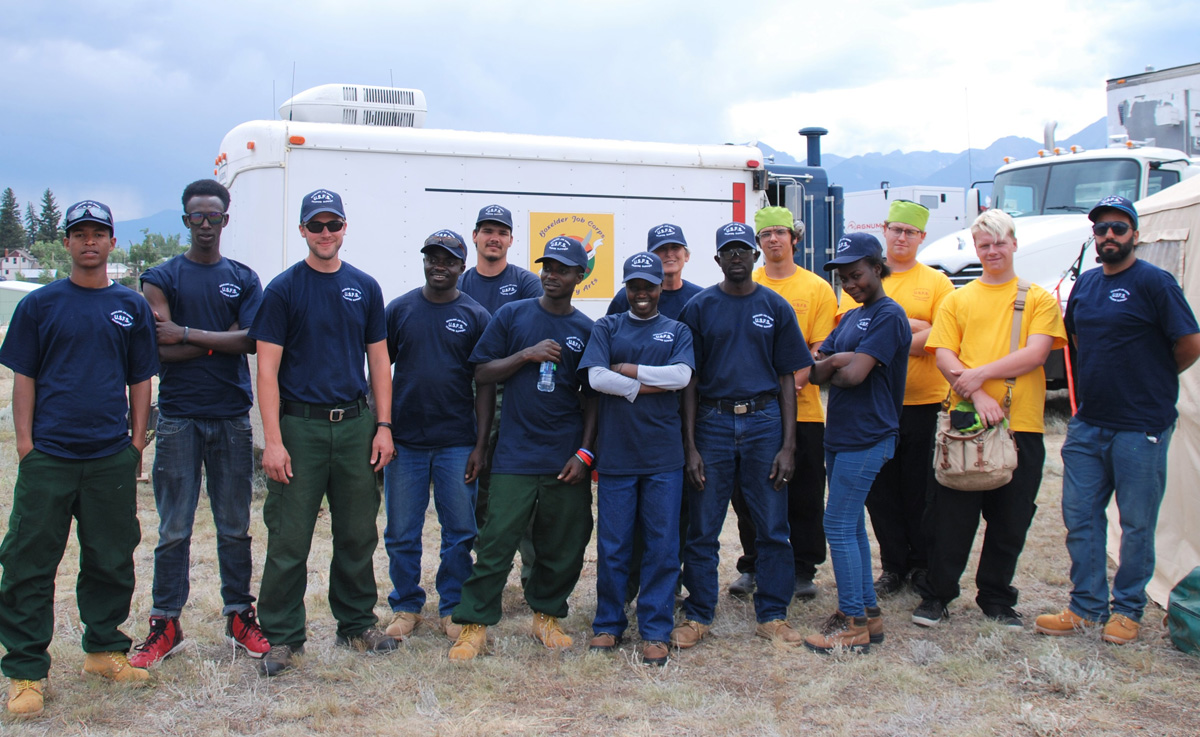 Job Corps students support the Hayden Pass Fire base camp